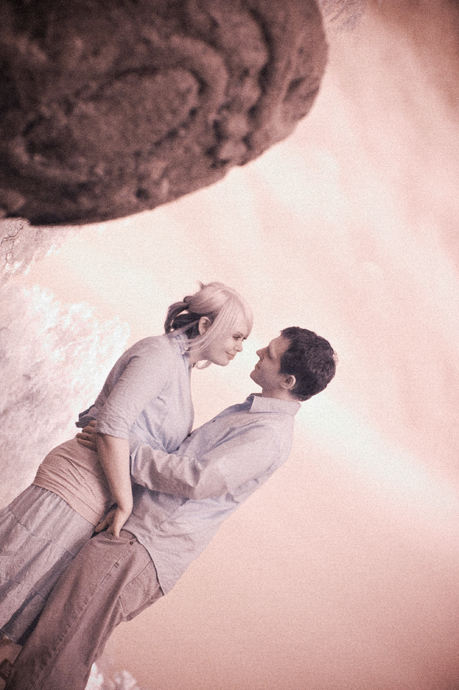 Infrared Engagement Pictures at the Santa Barbara Mission