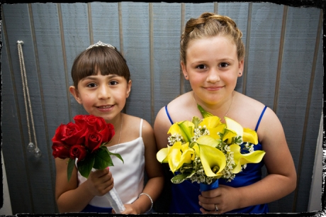 Flower Girls at Puddingstone Resort Wedding