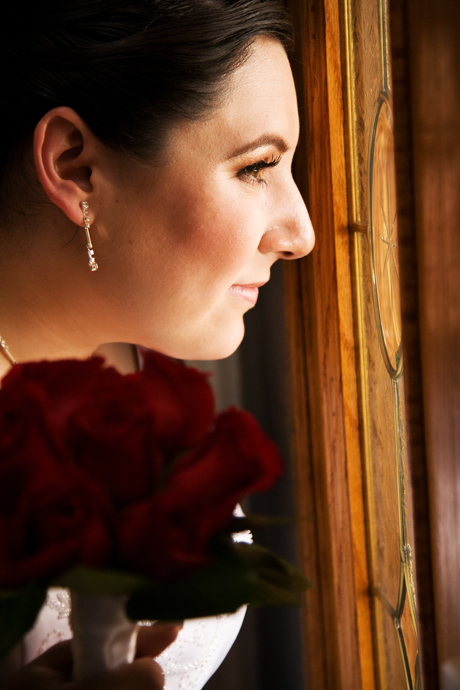 Bride at Puddingstone Resort Wedding