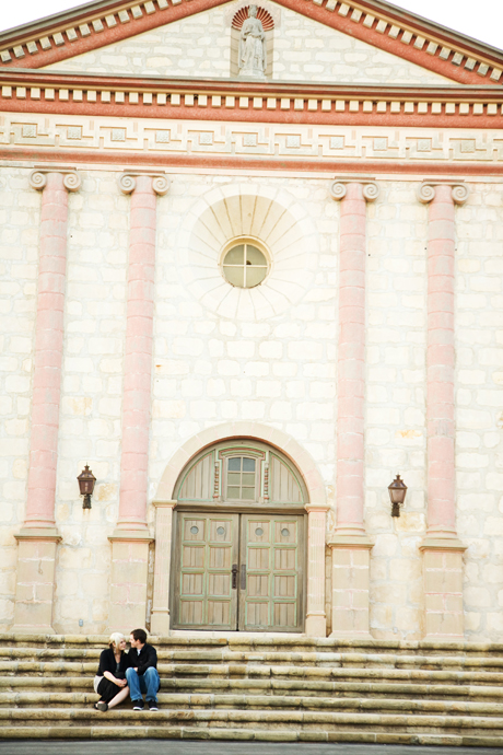 Engagement Pictures at Santa Barbara Mission