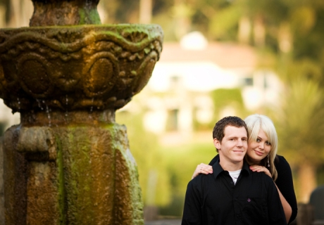 Santa Barbara Mission Engagement Shoot