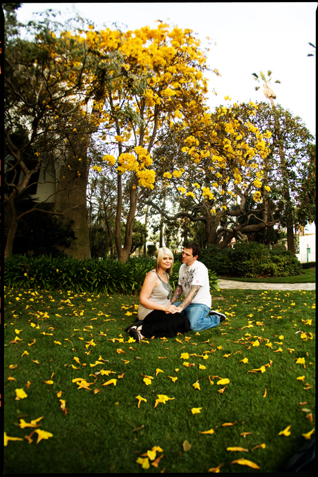 Santa Barbara Courthouse Engagement Shoot