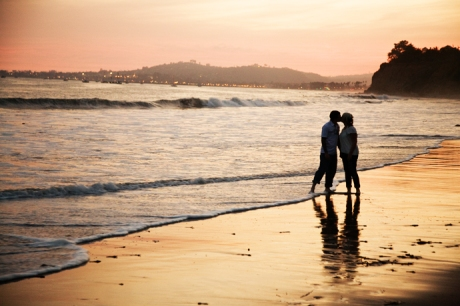 Engagement Photos at Butterfly Beach