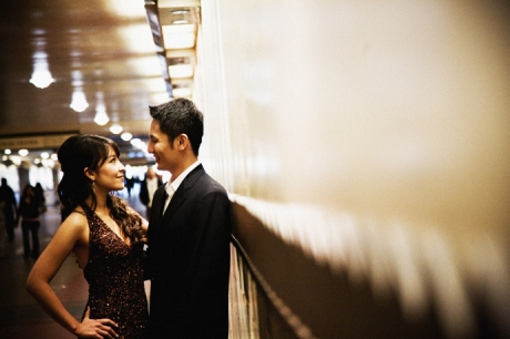 Los Angeles Union Station Engagement Photos