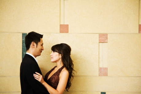 Los Angeles Union Station Engagement Pictures