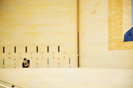 Union Station Los Angeles Engagement Photos