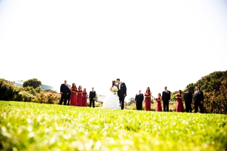 Los Angeles Rose Garden Wedding Pictures
