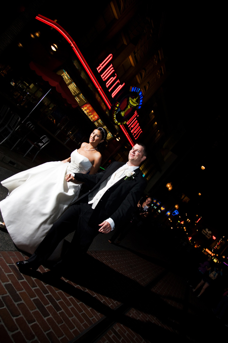 Bride and Groom at California Adventure
