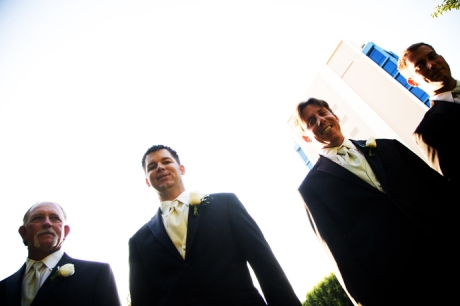 Groom and Groom's Men at the Disneyland Hotel