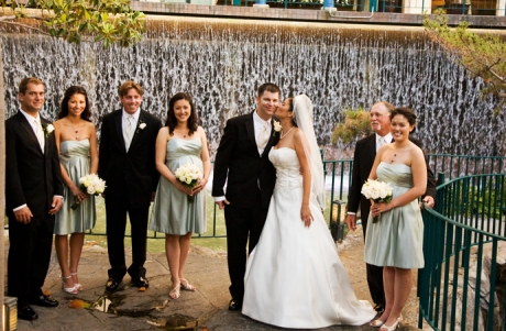 Bridal Party at the Disneyland Hotel