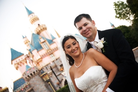 Bride and Groom at Disneyland
