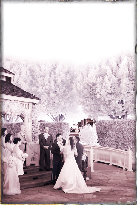 Infrared Wedding Photography at the Disneyland Hotel