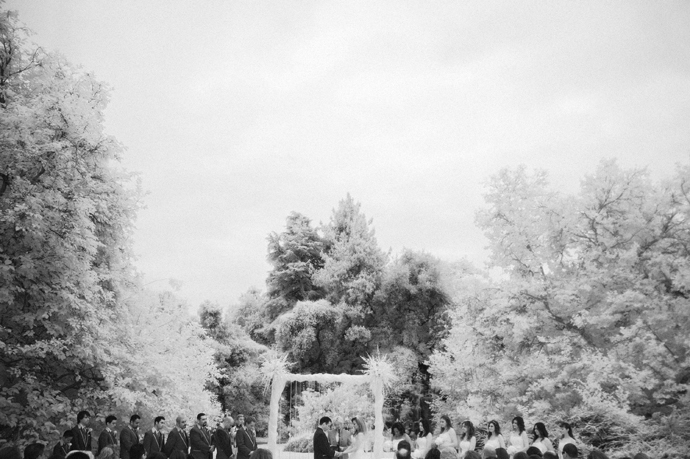 Infrared Wedding Photography at the Los Angeles Arboretum