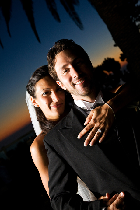 Bride and Groom at La Venta Inn