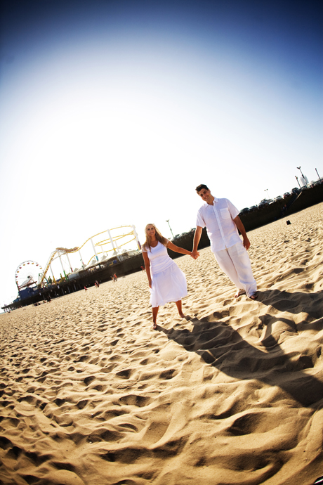 Engagement Session at the Santa Monica Pier