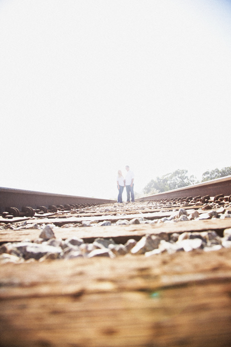 Engagement Pictures on Train Tracks