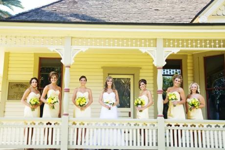 Bride and Girls at Fullerton Arboretum