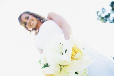 Bride at Fullerton Arboretum