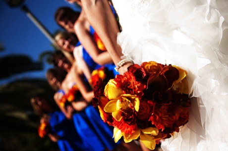 Bride and Bride's Maids in San Diego