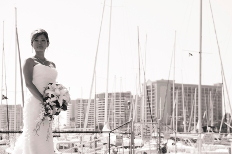 Bride at California Yacht Club
