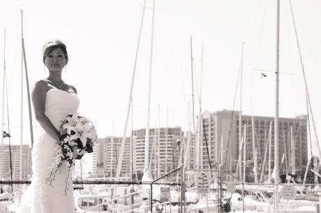 Bride at California Yacht Club