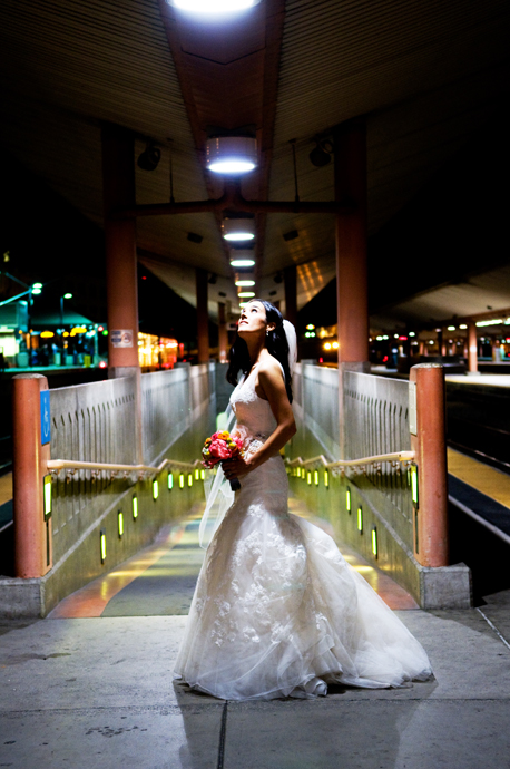 Bride at Union Station Los Angeles