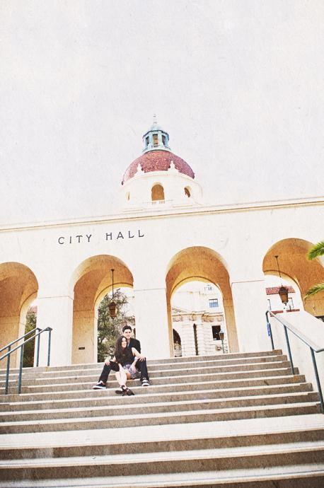 Pasadena City Hall Engagement