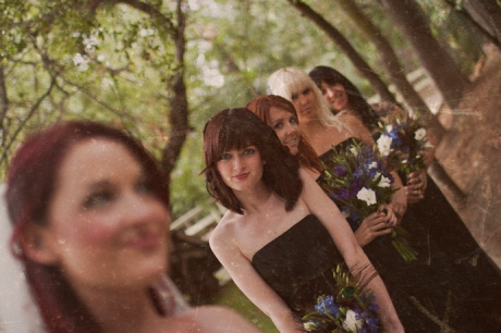 Bride and Bride's Maids at Calamigos Ranch