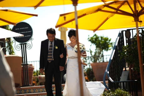 Santa Barbara Wedding Ceremony at the Canary Hotel