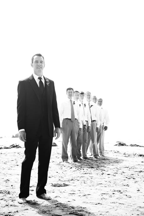 Groom and Groom's Men in Corona Del Mar