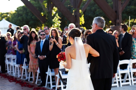 Wedding Ceremony at the Eagle's Nest Clubhouse
