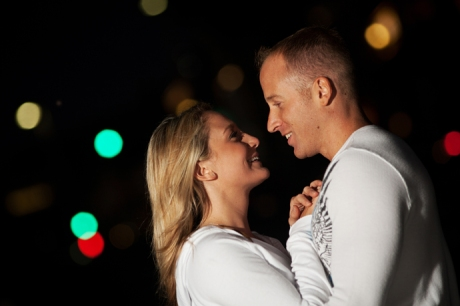 Engagement Photography at Night in Manhattan Beach