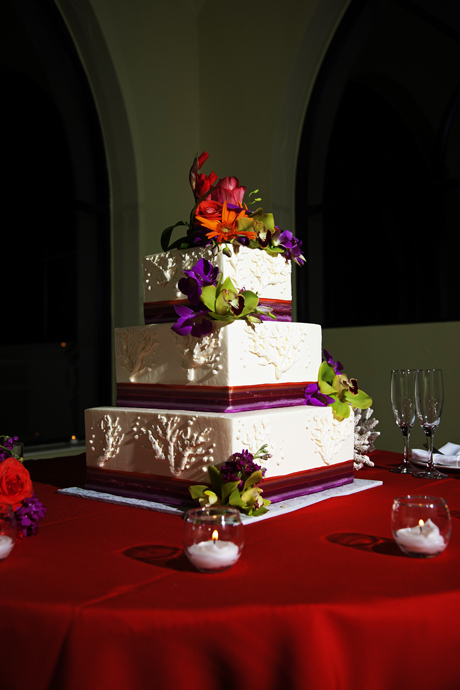 Wedding Cake at Huntington Beach Hilton
