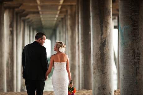 Wedding Photography at Huntington Beach Pier