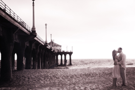 Infrared Engagement Photography in Manhattan Beach