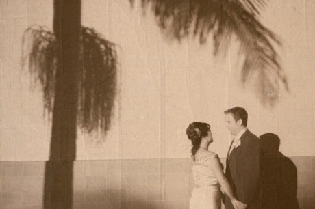 Infrared Wedding Photography at the Santa Barbara Greyhound Station