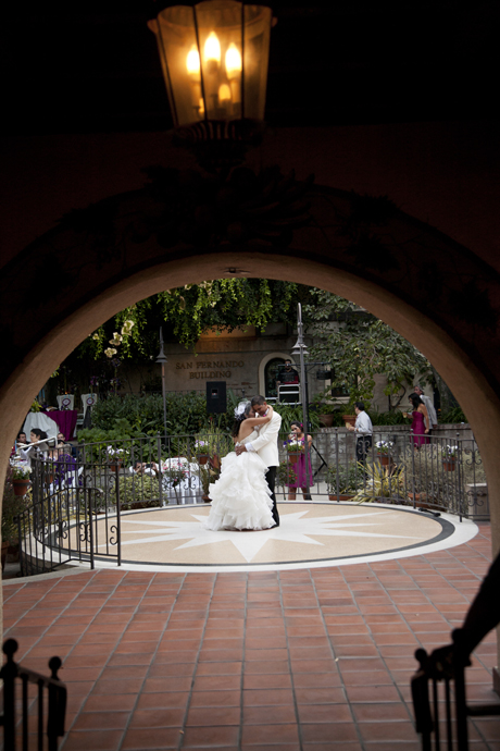 First Dance at Los Angeles River Gardens Wedding Reception