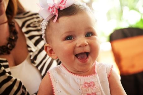 Smiling Baby at Wedding