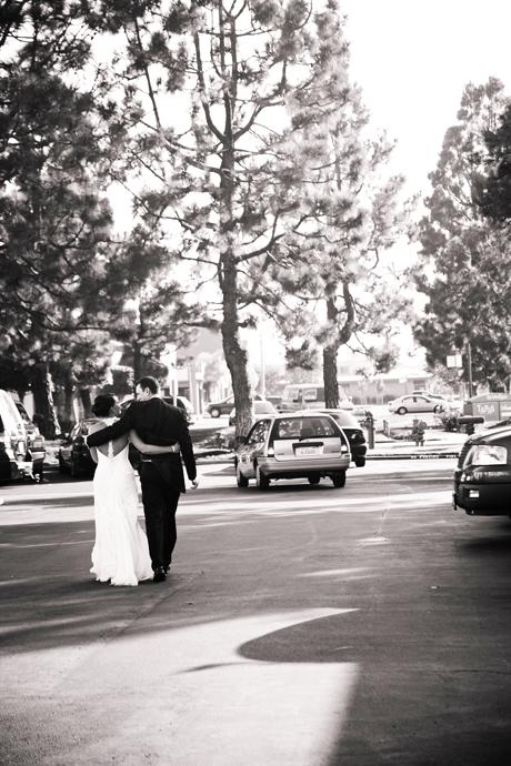 Bride and Groom at the Newport Beach Radisson