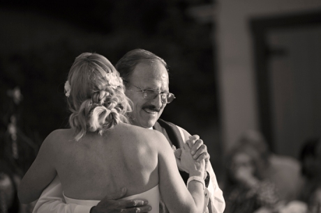 Father Daughter Dance at French Estate Wedding Reception