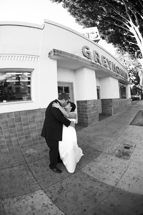 Wedding Pictures at the Santa Barbara Greyhound Station