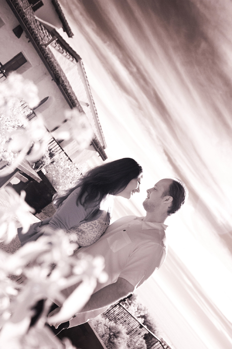 Infrared Engagement Photography at Casa Romantica