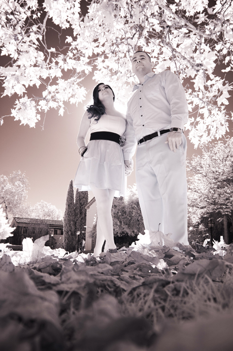 Infrared Engagement Photography at Claremont College
