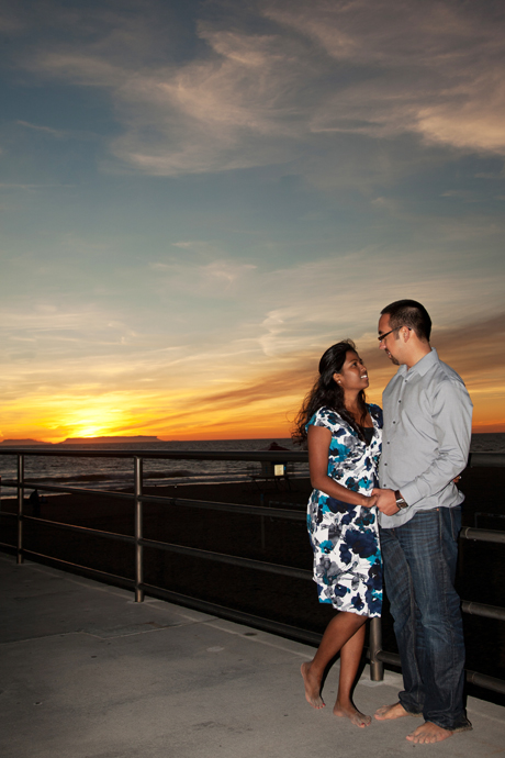Engagement Pictures on Huntington Beach Pier