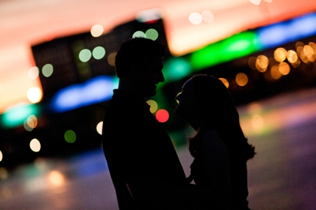Engagement Photography with Harbor Lights