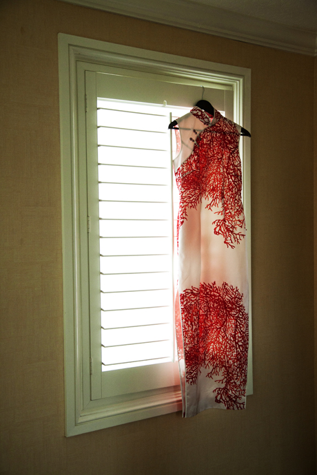 Traditional Chinese Wedding Dress at the Huntington Beach Hyatt