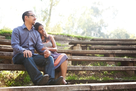 Engagement Photography at Huntington Beach Library Park