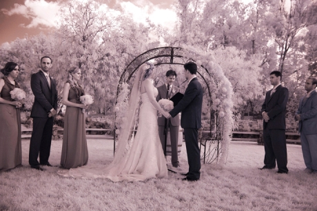 Infrared Wedding Pictures at Lake Oak Meadows