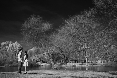 Infrared Engagement Pictures, Huntington Beach, Orange County
