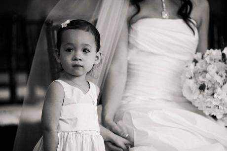 Flower Girl at Orange County Wedding